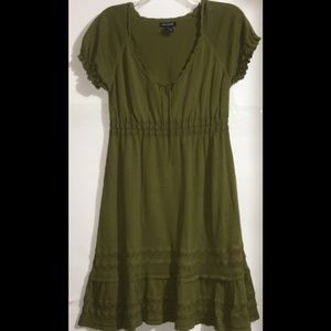 Max Edition Like New Olive Sweater Dress Lg